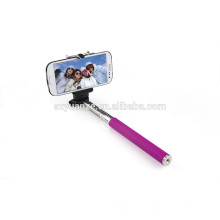Bâton de selfie bluetooth coloré étendu, bâton de selfie de dessin animé, bâton de selfie câblé
