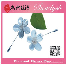 Sundysh Handmade Clear Crystal Flower Pins