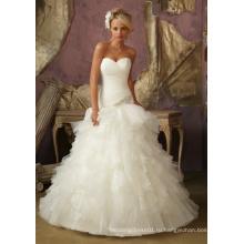 2016 Изысканный Бисером Свадебное Платье Кружева Свадебное Платье