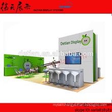 20x30 configurable trade show exhibits display custom, expo to abroad,that can be used many times