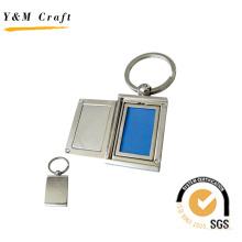 Llavero con marco de foto / fotograma de metal (Y02481)