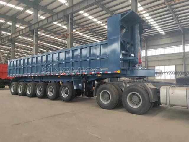 6 Axle 45 Cubic Meter Dump Truck Trailer 9