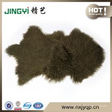 Оптовая монгольский Тибетский шерсти овечки кожи овцы крашеные Snowtop Цвет