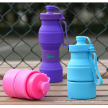 OEM Silicone Silica Gel Foldable Portable Sport Water Bottle