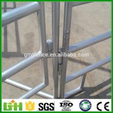 Panneaux de clôture à cheval usés en fer forgé à bon marché / clôture de fer galvanisée / clôture de terrain