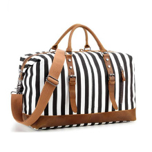 Custom Women Canvas Weekender Bag Overnight Travel Bag