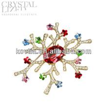 Mulheres traje broche de jóias de luxo rhinestone casamento broche