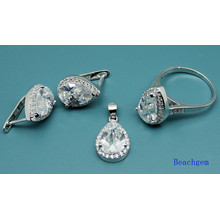 White Cubic Zirconia Fashion Jewellery Set (S3305)