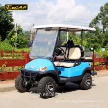 Carretilla de golf eléctrica levantada grande del neumático carro de golf de 4 asientos
