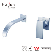 Haijun Promotional Single Handle Wall Mounted Saving Water Sink Brass Faucet