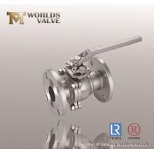 Válvula de esfera de duas peças de classe 300 CF8m