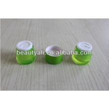 Envase de embalaje de acrílico de 20g 50g Round Waist Double Liner