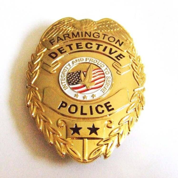 Custom High Quality Metal Badge for Police Officer