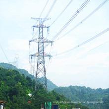 Torre de transmisión de potencia galvanizada de esquina de 220 kV
