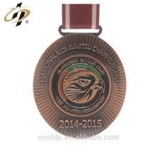 Wholesale ancient copper UAE custom jiu jistu award medal with own logo