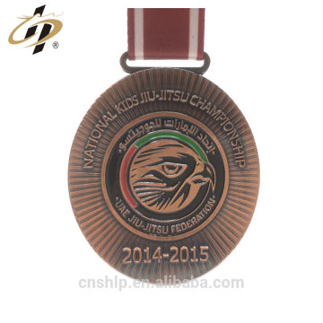 Wholesale ancient copper UAE custom jiu jistu award medal with own logo