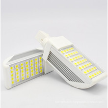 G24 / E27 7W LED Ampoules à maïs Light \ Lampe à fiche horizontale avec couvercle 5050SMD