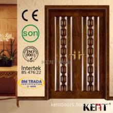 Double Entry bread wood door,Luxury Wooden Door