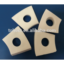 High wear resistance 95% alumina ceramic tiles for conveyor system ceramic ceramic white plate brick