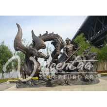 High quality metal dragon sculpture bronze dragon sculpture