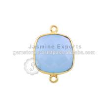 Chalcedon Vermeil vergoldeten Lünettenverbinder