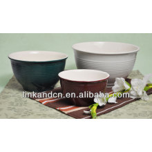 Vaso de cerámica grande a granel / tazón de fuente de esmalte