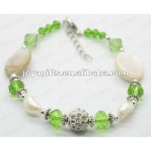 Fashion 2012 Joya Green Glass Beaded Anklet