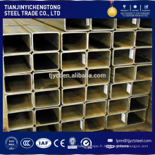 HRS rectangle creux tube en acier noir avec une bonne qualité