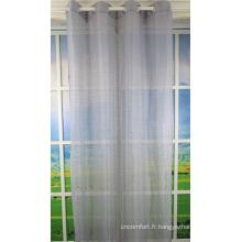 Tissu de rideaux voilage décoratifs de fenêtre d'accueil