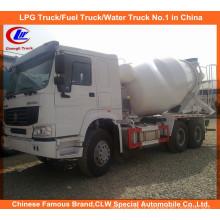 10 Wheeler Sinotruk 371HP 10cbm Mélangeur de ciment HOWO Camion mélangeur de béton