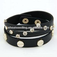 Punk estilo multicapa pulsera de cuero envoltura 110301113