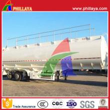 Remorque semi-remorque en acier de réservoir de carburant d'huile de route de bas prix