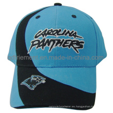 Pesado cepillado algodón sarga bordado deportivo gorra de béisbol (TMB02583)