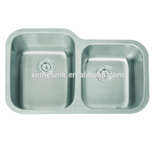 Fregaderos de cocina de doble cuenco de acero inoxidable 304