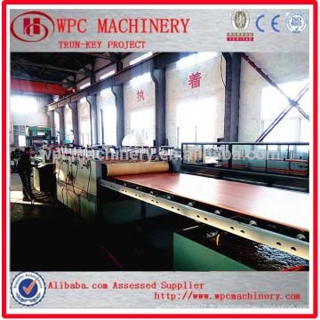 PVC composite en composite composite en bois / machine à fabriquer des panneaux en PVC WPC