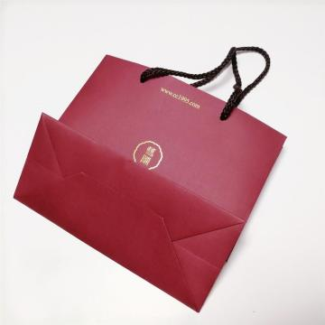 Red Fancy Paper Custom Print Paper Bag