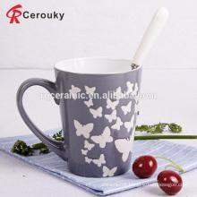 Two tone 11oz ceramic coffee mug