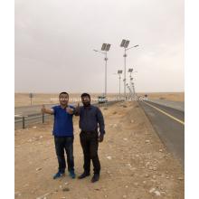 Luz de calle solar de 8M poste altura 50W LED