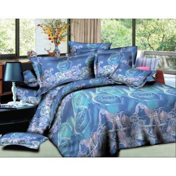 3d imprimió la sábana de cama del diseño 3d del bedset del 100% poliéster