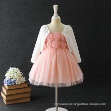 2018 heißer Verkauf Design Pfirsich Baby Mädchen Sommerkleid für 1-5 Jahre alt