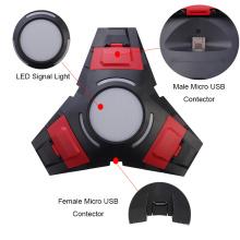 Triangle double charge avec LED Light USB Dock pour Sony Playstation 4 PS4 Dualshock 4 chargeur contrôleur