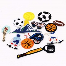 Embroidered Decoration soccer embroidery Patches Custom