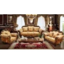 Sofa en bois de tissu pour des meubles de salle de séjour (D929)