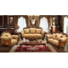 Wooden Sofa with Wood Corner Table (D929)