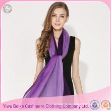 Bufanda de cachemira pura al por mayor de moda