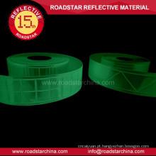 Personalizado fita reflexiva luminescente do pvc prismáticos