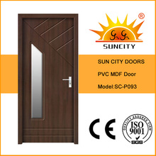 Wooden PVC Door with Glass (SC-P093)