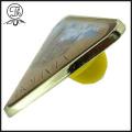 Triangle printed metal badge pin