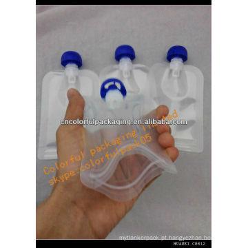 Bocal recarregável do malote do alimento para bebé / malote do comida para bebé / bebê malote plástico reusável do alimento da venda por atacado do bico