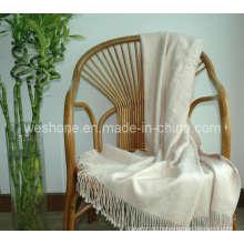 Wurf von Bambus, Bambus Decke, Bambusfaser werfen Bt-F070330-Creme